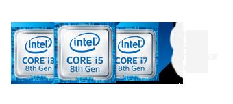 Logo du Intel core i3 i5 i7 de 8<sup1>e</sup> génération