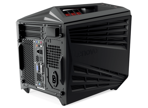 Lenovo Ideacentre Y720 Cube, back left side view