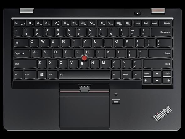 Lenovo ThinkPad 13 Overhead View of Keyboard