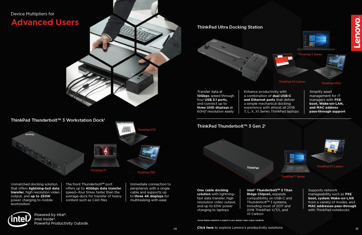 Family Brochure: Augment Productivity with Lenovo Devices