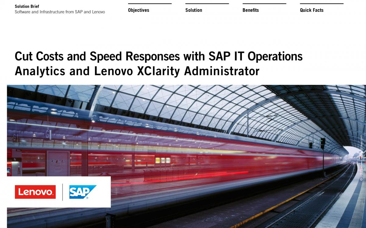 Asset Cut Costs and Speed Responses with SAP and Lenovo 1p